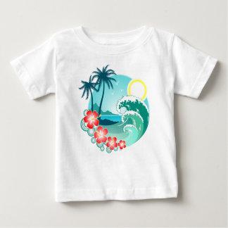 Camiseta Para Bebê Ilha havaiana 2