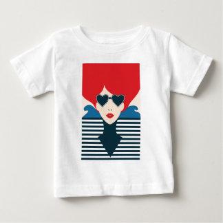 Camiseta Para Bebê Ilustração à moda francesa do chique da forma da