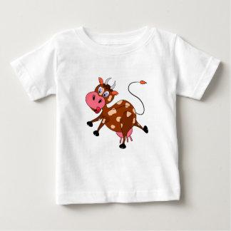 Camiseta Para Bebê ilustração bonita dos desenhos animados da vaca