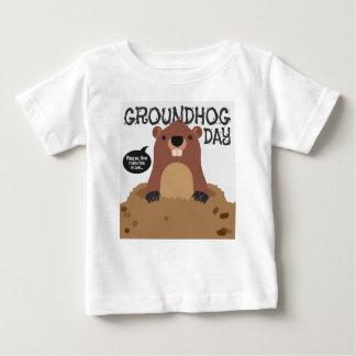 Camiseta Para Bebê Ilustração bonito dos desenhos animados do dia de
