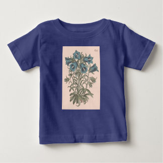 Camiseta Para Bebê Ilustração botânica alpina da flor de Bell