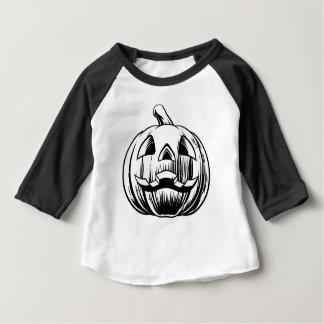 Camiseta Para Bebê Ilustração da abóbora do Dia das Bruxas