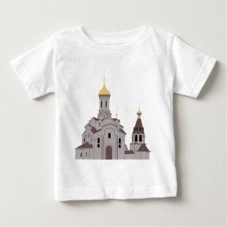 Camiseta Para Bebê Ilustração da catedral