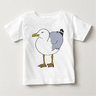 Camiseta Para Bebê Ilustração da gaivota