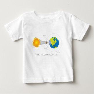 Camiseta Para Bebê Ilustração da geometria do eclipse solar