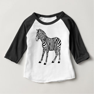 Camiseta Para Bebê Ilustração da zebra