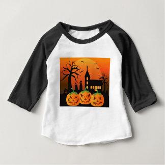 Camiseta Para Bebê Ilustração das abóboras da lanterna do Dia das