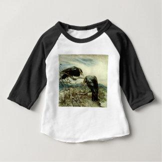 Camiseta Para Bebê Ilustração de dois corvos