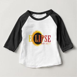 Camiseta Para Bebê Ilustração do abstrato do texto do eclipse 2017