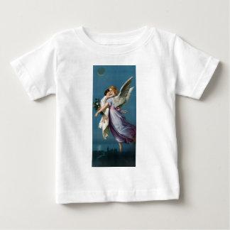 Camiseta Para Bebê Ilustração do anjo e da criança do vintage