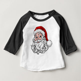 Camiseta Para Bebê Ilustração do Natal de Papai Noel