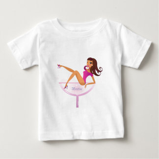 Camiseta Para Bebê Ilustração do original da menina de Martini