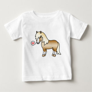 Camiseta Para Bebê Ilustração do pônei de Shetland do Palomino & um