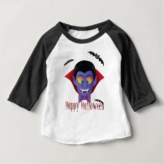 Camiseta Para Bebê Ilustração feliz de Dracula da contagem do Dia das