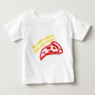 Camiseta Para Bebê Im apenas aqui para a pizza