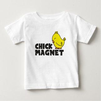 Camiseta Para Bebê Ímã do pintinho