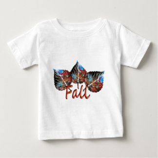 Camiseta Para Bebê Imagem da folha da queda