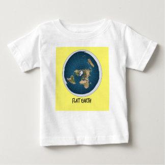 Camiseta Para Bebê Imagem da terra lisa
