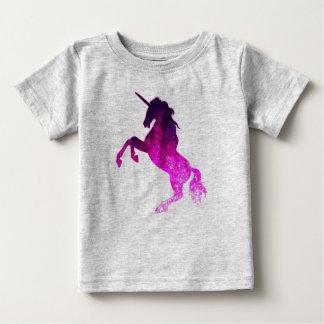 Camiseta Para Bebê Imagem sparkly do unicórnio bonito cor-de-rosa da