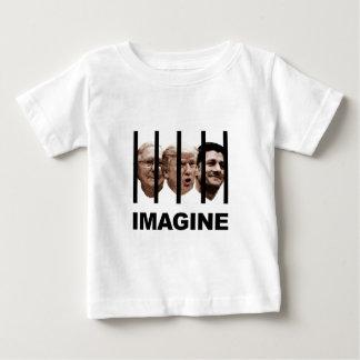 Camiseta Para Bebê Imagine o trunfo, o McConnell e o Ryan atrás dos
