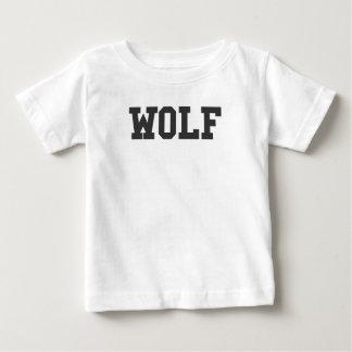 Camiseta Para Bebê Impressão agradável do lobo