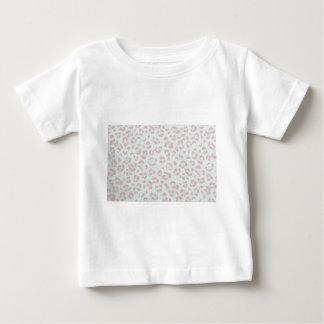 Camiseta Para Bebê impressão animal da selva da chita do rosa de bebê