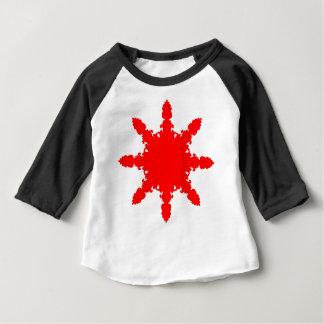 Camiseta Para Bebê Impressão circular vermelho