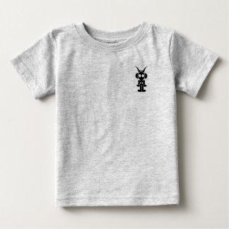 Camiseta Para Bebê IMPRESSÃO clássico do PRETO do logotipo