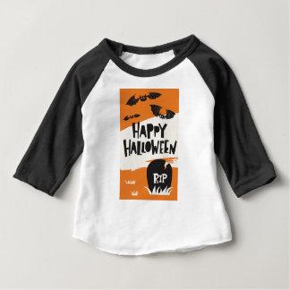 Camiseta Para Bebê Impressão do partido do Dia das Bruxas - RASGO dos