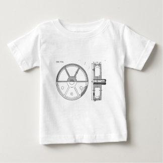 Camiseta Para Bebê Impressão mecânico industrial das coisas efêmeras