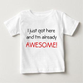 Camiseta Para Bebê Impressionante