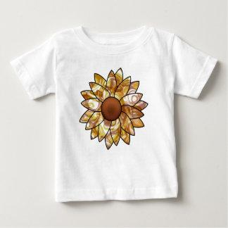 Camiseta Para Bebê Impressões do girassol
