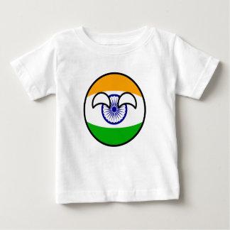 Camiseta Para Bebê India Geeky de tensão engraçado Countryball