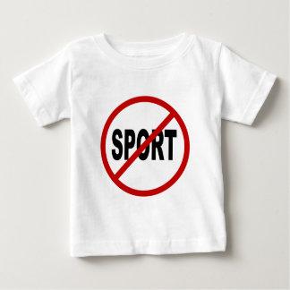 Camiseta Para Bebê Indicação permitida esporte do sinal de /No do