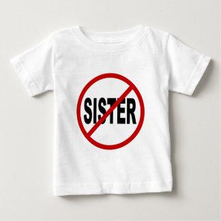 Camiseta Para Bebê Indicação permitida irmã do sinal de /No da irmã