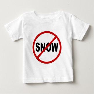 Camiseta Para Bebê Indicação permitida neve do sinal de /No da neve