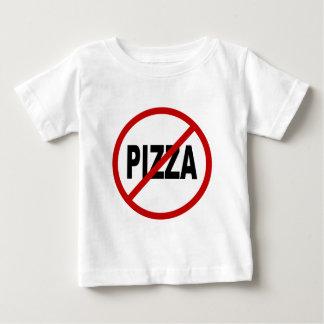 Camiseta Para Bebê Indicação permitida pizza do sinal de /No da pizza