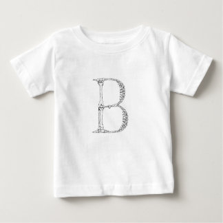 Camiseta Para Bebê Inicial do osso da letra B