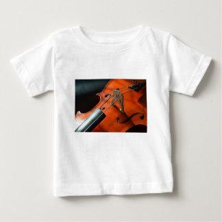 Camiseta Para Bebê Instrumento amarrado cordas da madeira do