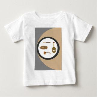Camiseta Para Bebê instrumentos musicais