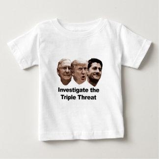 Camiseta Para Bebê Investigue a ameaça tripla