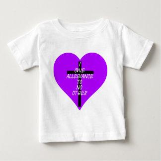 Camiseta Para Bebê IOATNO Purple Heart e cruz