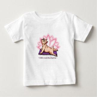 Camiseta Para Bebê Ioga do buldogue francês - pose de Bhujangasana -
