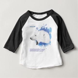 Camiseta Para Bebê Iorek, urso blindado de seus materiais escuros