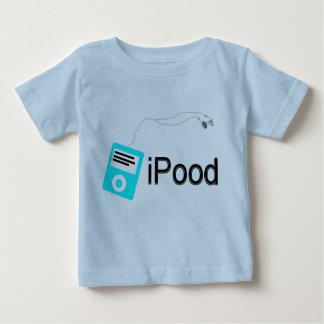 Camiseta Para Bebê ipood-azul