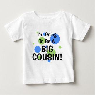 Camiseta Para Bebê Ir ser primo grande!