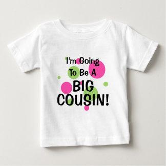Camiseta Para Bebê Ir ser primo grande! Rosa