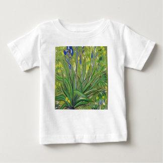 Camiseta Para Bebê Íris da arte de Van Gogh, reprodução acrílica