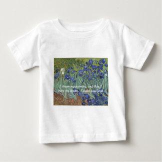 Camiseta Para Bebê Íris de Vincent van Gogh & citações do sonho