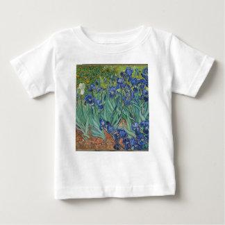 Camiseta Para Bebê Íris de Vincent van Gogh que pintam o trabalho de